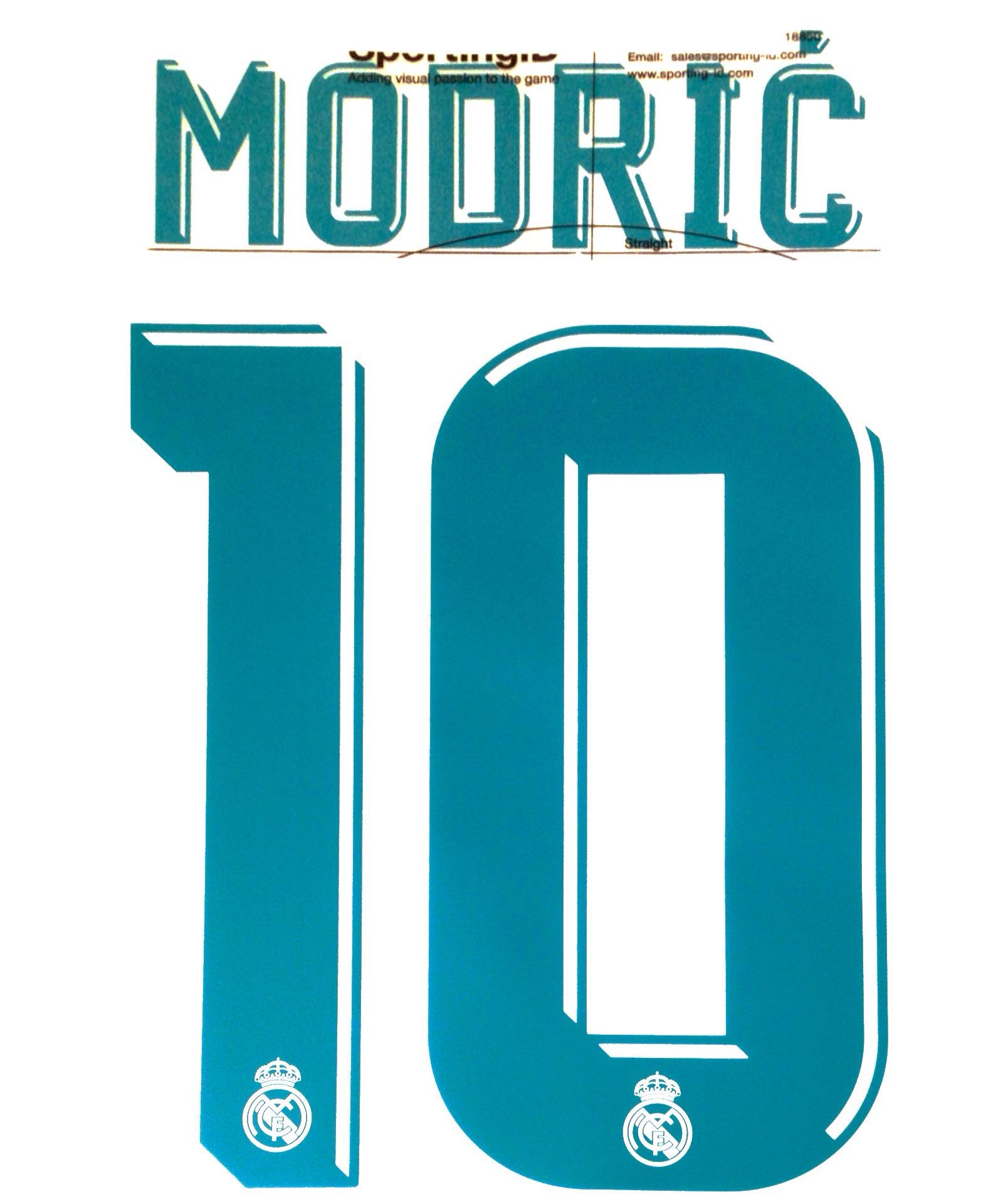 newest 34eb5 50694 2017-18 Real Madrid MODRIC 10 Home UCL Shirt OFFICIAL ...